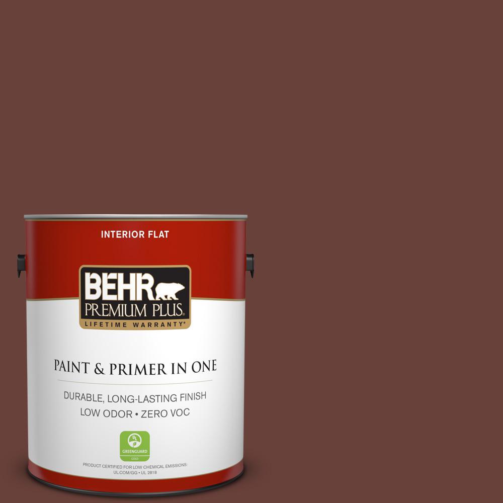 BEHR Premium Plus 1-gal. #bnc-32 Maximum Mocha Flat Interior Paint