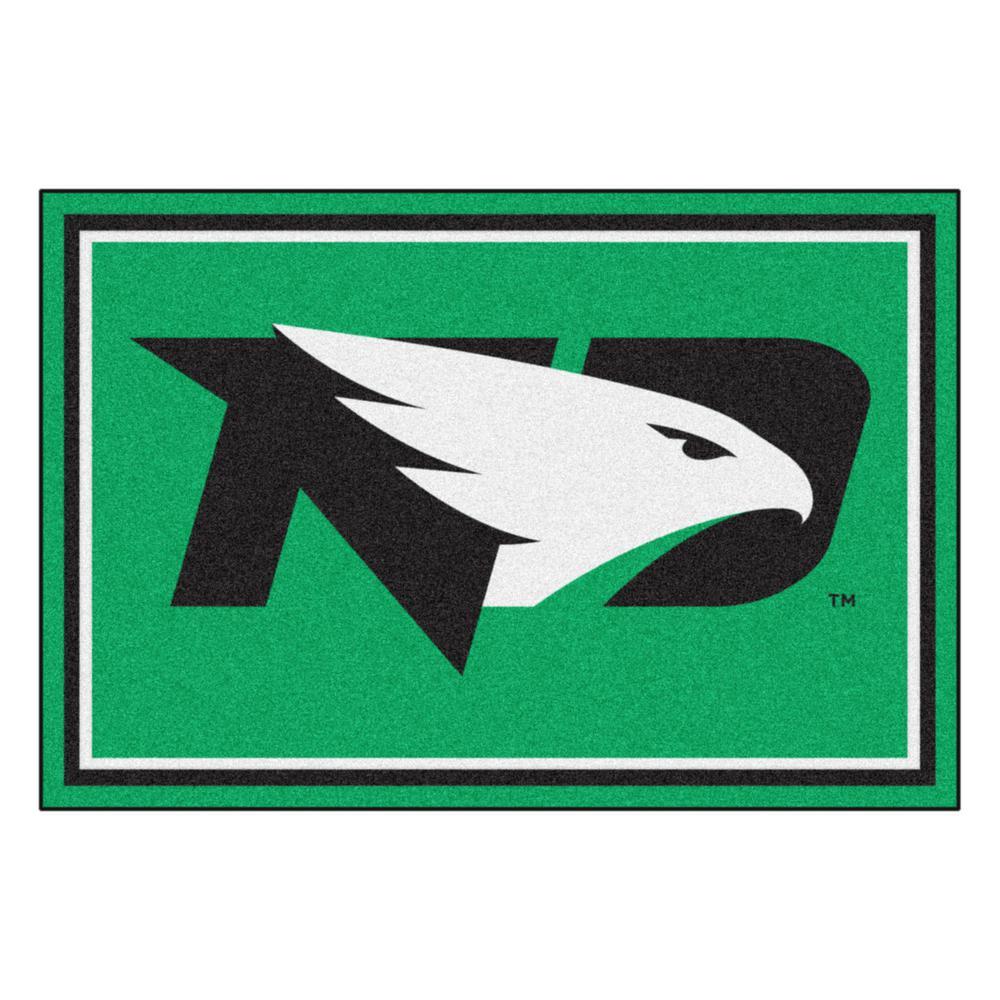 NCAA - University of North Dakota Green 8 ft. x 5 ft. Indoor Area Rug