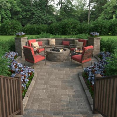 RumbleStone Large 3.5 in. x 10.5 in. x 7 in. Greystone Concrete Garden Wall Block (96 Pcs. / 24.5 Face ft. / Pallet)