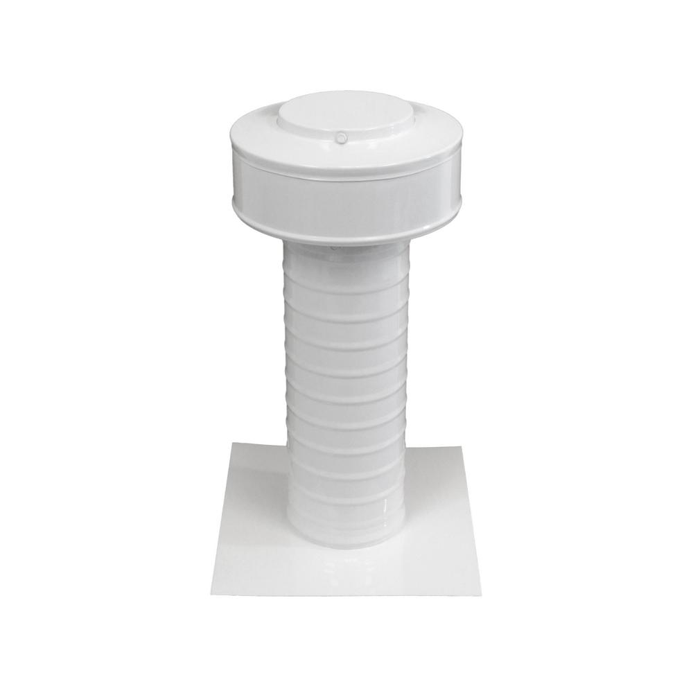 4 in. Dia Aluminum Keepa Static Vent for Flat Roofs in