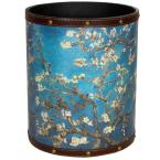 Oriental Furniture Oriental Furniture 8.25 in. x 10 in. Van Gogh Autumn Blossom Waste Basket