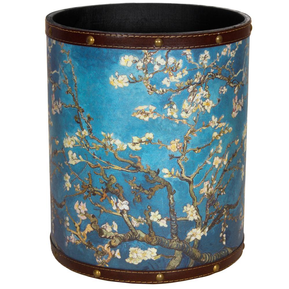 Oriental Furniture 8.25 in. x 10 in. Van Gogh Autumn Blossom Waste Basket
