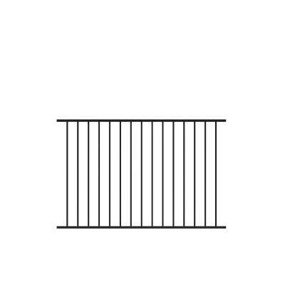 Beechmont 4 ft. H x 6 ft. W Black Aluminum Fence Kit