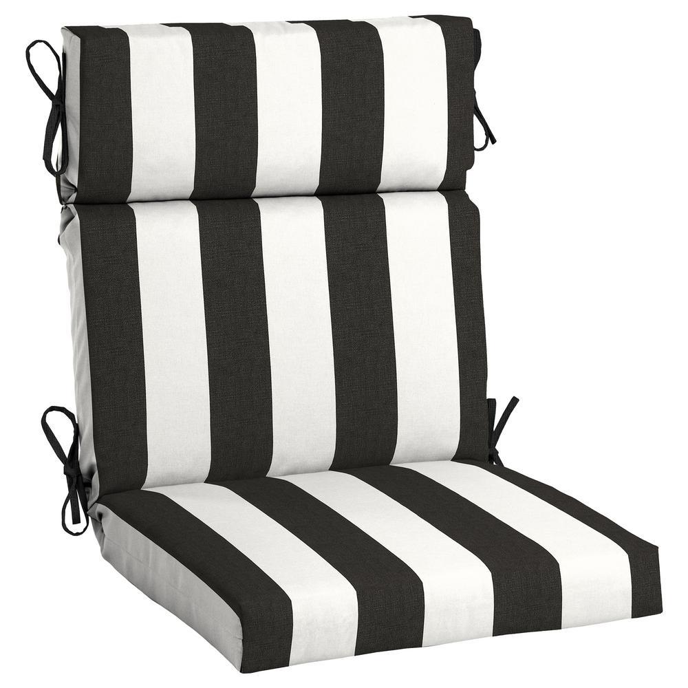 21.5 x 44 Sunbrella Cabana Classic High Back Outdoor Dining Chair Cushion