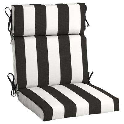 Sunbrella Cabana Classic High Back Outdoor Dining Chair Cushion
