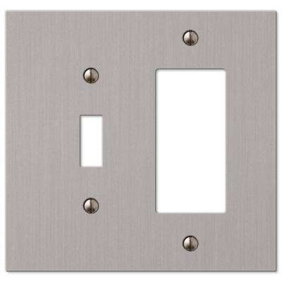 Elan 1 Toggle 1 Decorator Wall Plate - Brushed Nickel