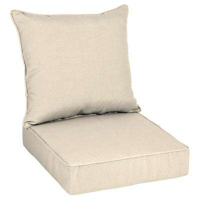 Oak Cliff 24 X 24 Outdoor Lounge Chair Cushion In Sunbrella Canvas Flax