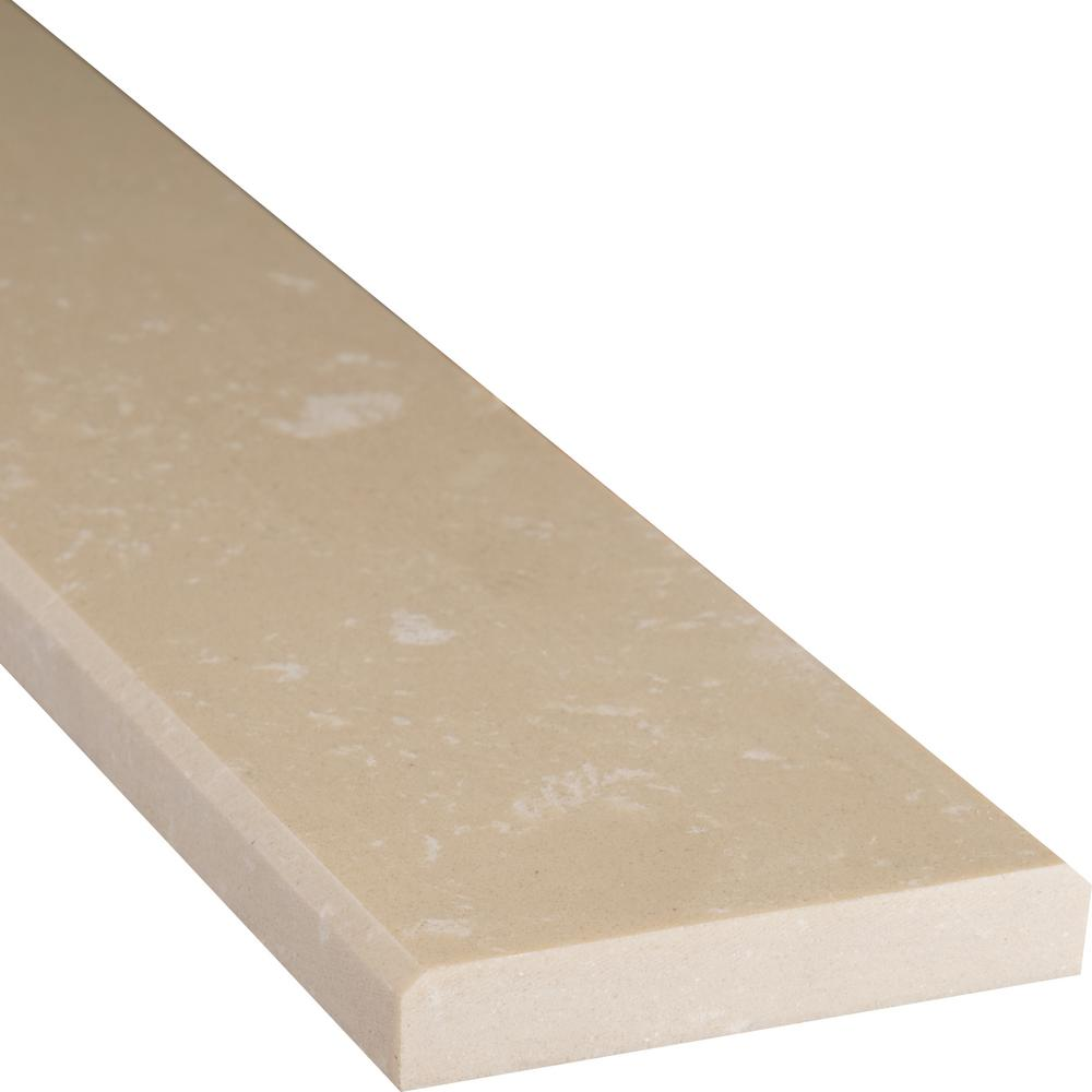 MSI Beige Double Bevelled 4 in. x 24 in. Engineered Marble Threshold Floor and Wall Tile