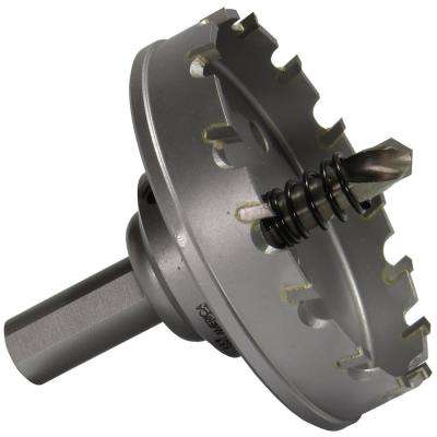 2-7/8 in. Carbide Tipped Hole Cutter with 3/16 in. D of Cut and Auto Ejecting Slug