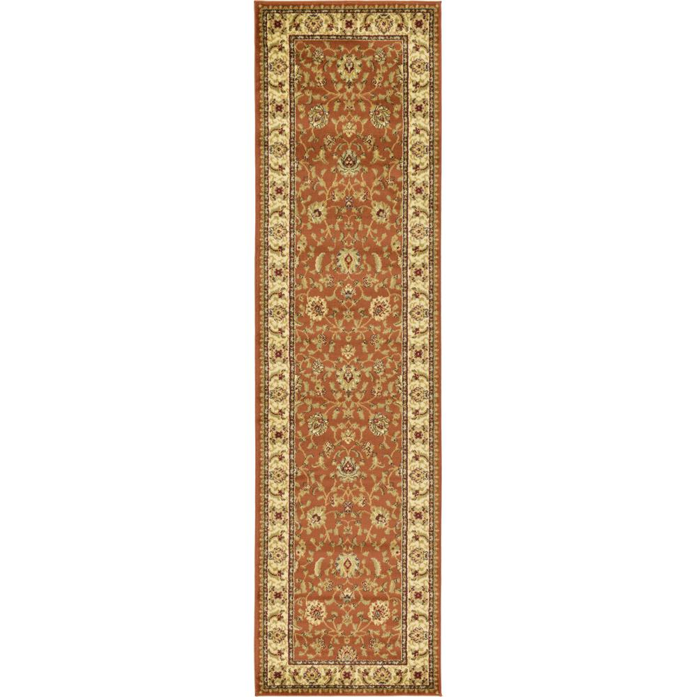 Unique Loom Agra Brick Red 2 Ft 7 In X 10 Ft Runner Rug
