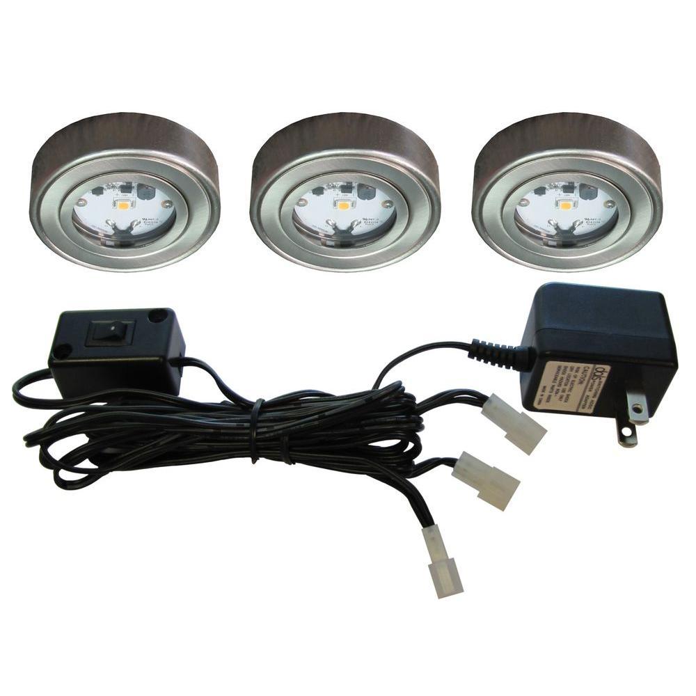 Illume Lighting Enviro Satin Nickel Metal LED Puck Light