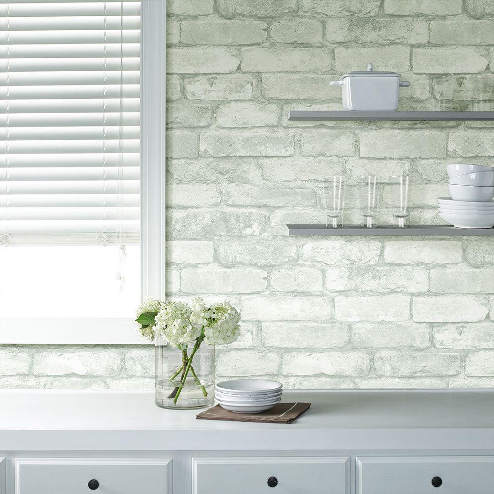 White Brick L And Stick Wallpaper
