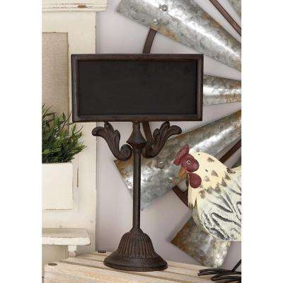 10 in. x 16 in. Rustic Iron Chalkboard with Scrollwork