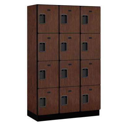 24000 Series 4-Tier 18 in. D Extra Wide Designer Particle Board Locker in Mahogany