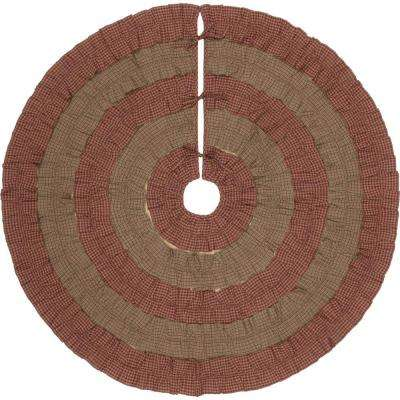55 in. Sequoia Burgundy Red Rustic Christmas Decor Tree Skirt