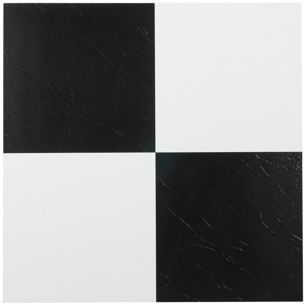 StickTiles 10.5 In. X 10.5 In. Black And White Diamond