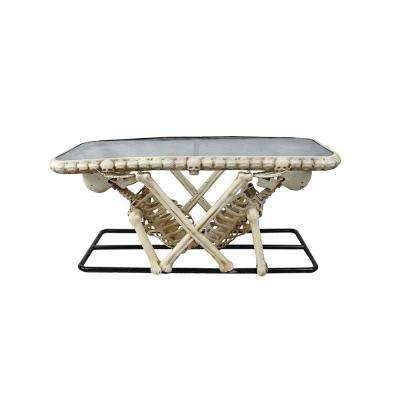 18 in. Rectangle Glass Table with Skeleton