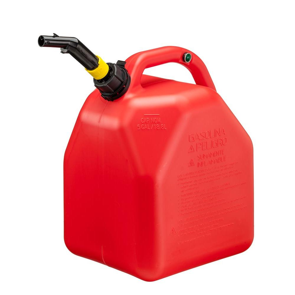 Plastic Gas Cans >> 5 Gal 18 8 L Hi Flo Gas Can 10445 The Home Depot