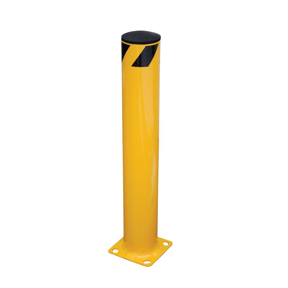 42 in. X 5.5 in. Yellow Steel Pipe Safety Bollard