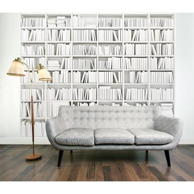 118 in. x 98 in. Library Wall Mural