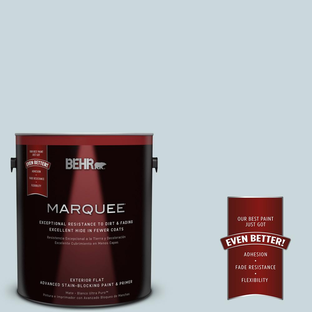 BEHR MARQUEE 1-gal. #PPU13-16 Offshore Mist Flat Exterior Paint