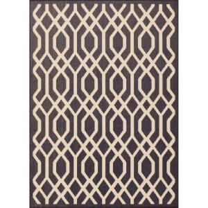 Lattice Navy 5 ft. 3 in. x 7 ft. 4 in. Indoor/Outdoor Area Rug