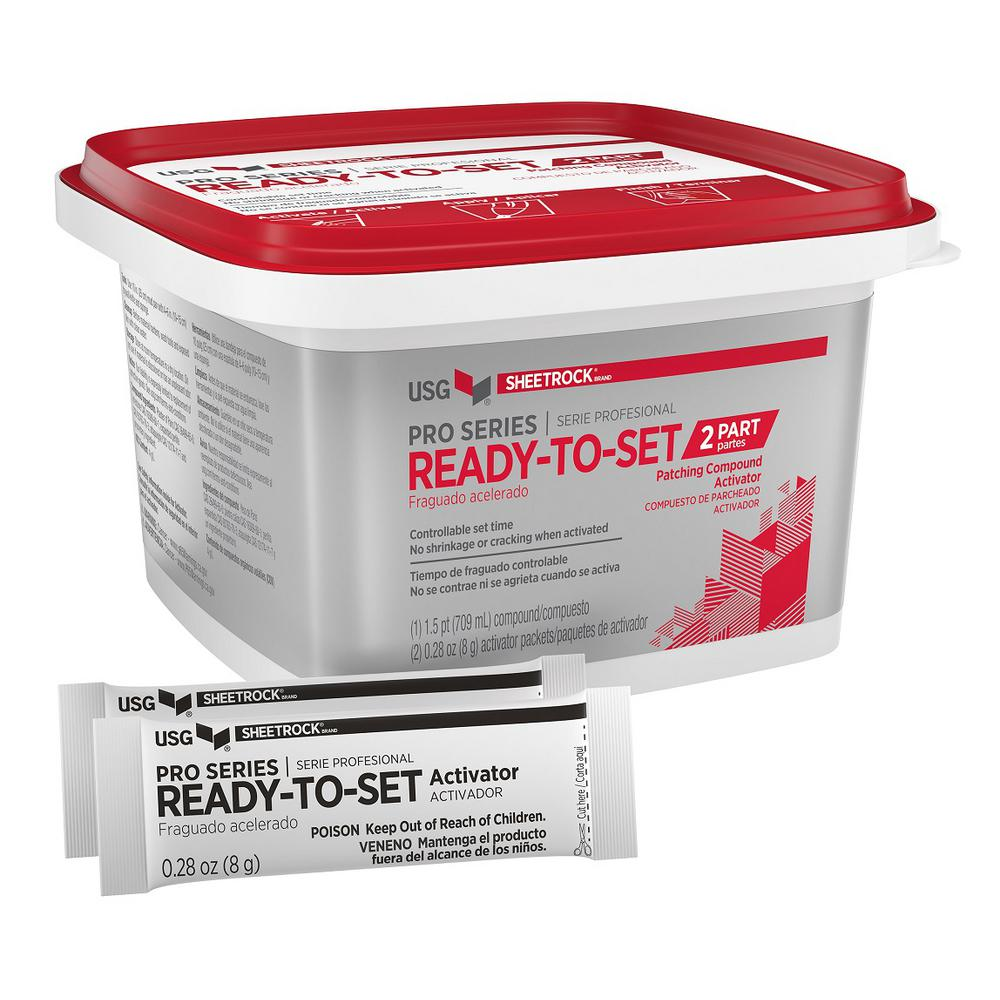 USG SHEETROCK Brand Pro Series 1 5-pt  Ready-To-Set Patching Compound (with  Activator)