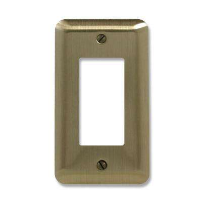 Steel 1 Decora Wall Plate - Brushed Brass