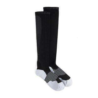 7-9.5 Black Women's Athletic Over The Calf Sock