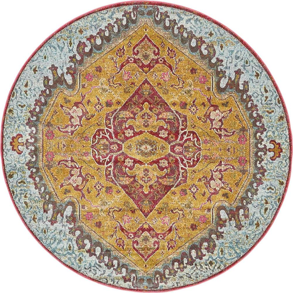 Unique Loom Havana Gold 5 Ft Round Rug 3139569 The Home