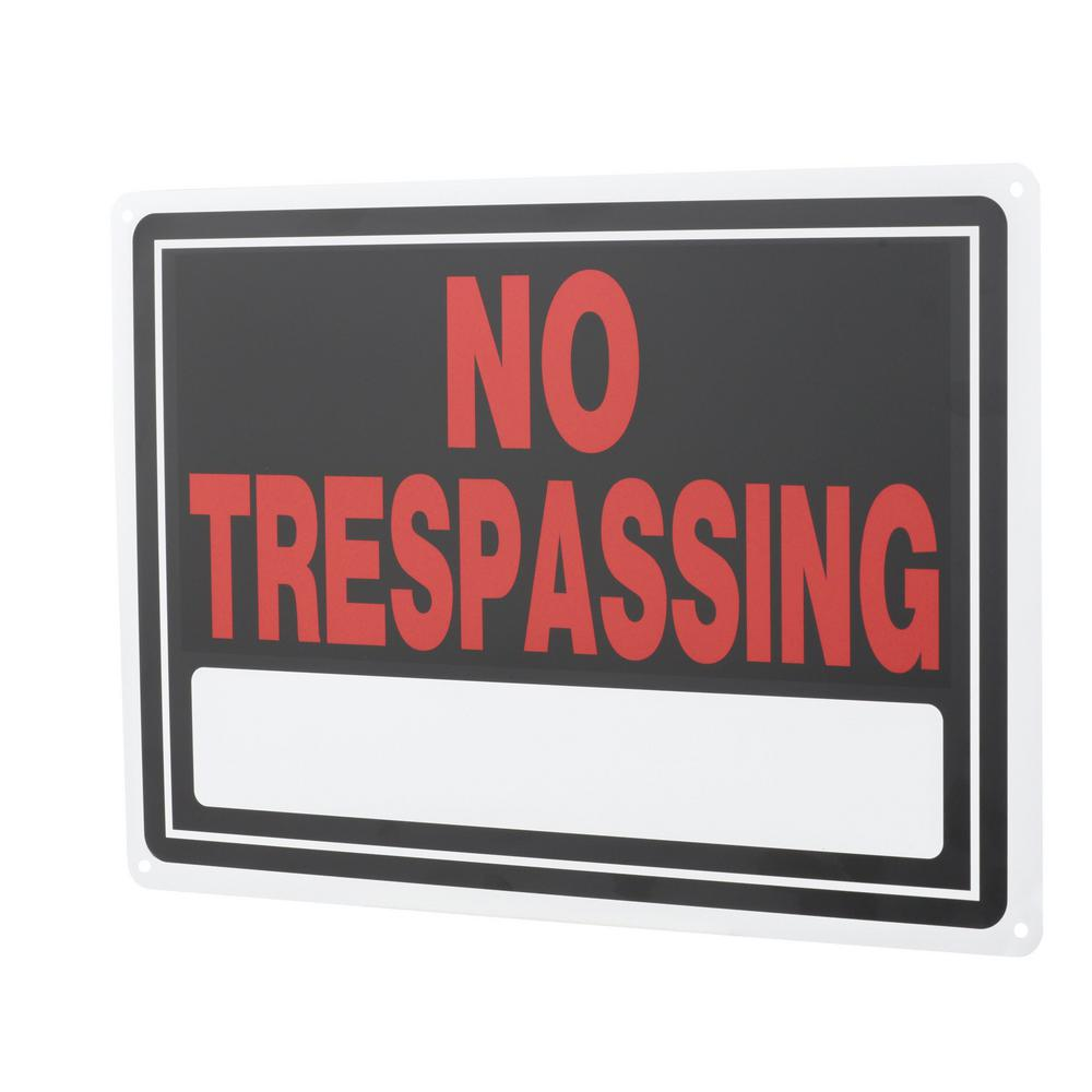 Everbilt 10 in. x 14 in. Aluminum No Trespassing Sign