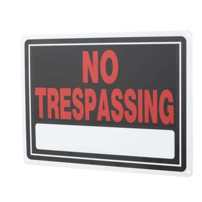 10 in  x 14 in  Aluminum No Trespassing Sign