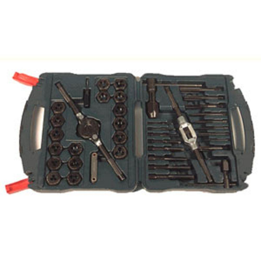 Black Oxide Metric Tap and Die Set (40-Piece)