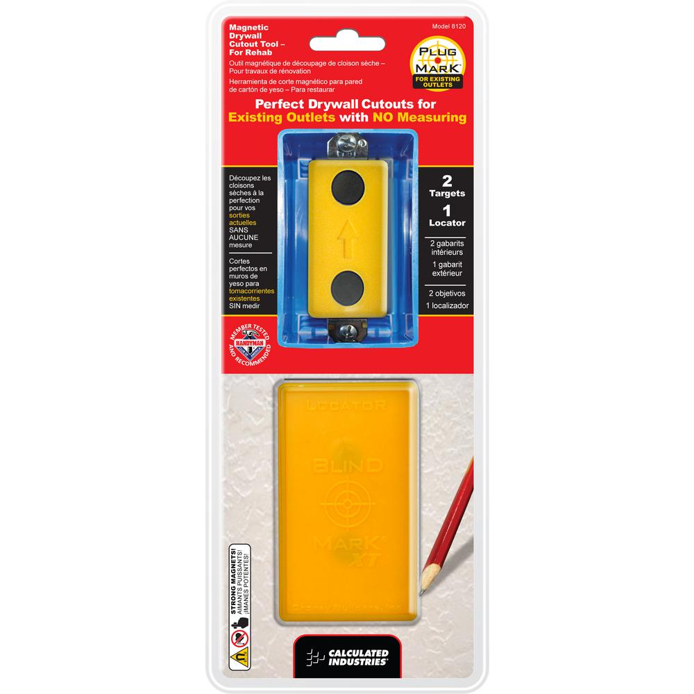 Plug Mark Magnetic Drywall Cutout Tool for Existing Outlets