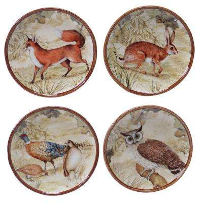 The Rustic Nature Collection 6 in. Canape Plate (Set of 4)
