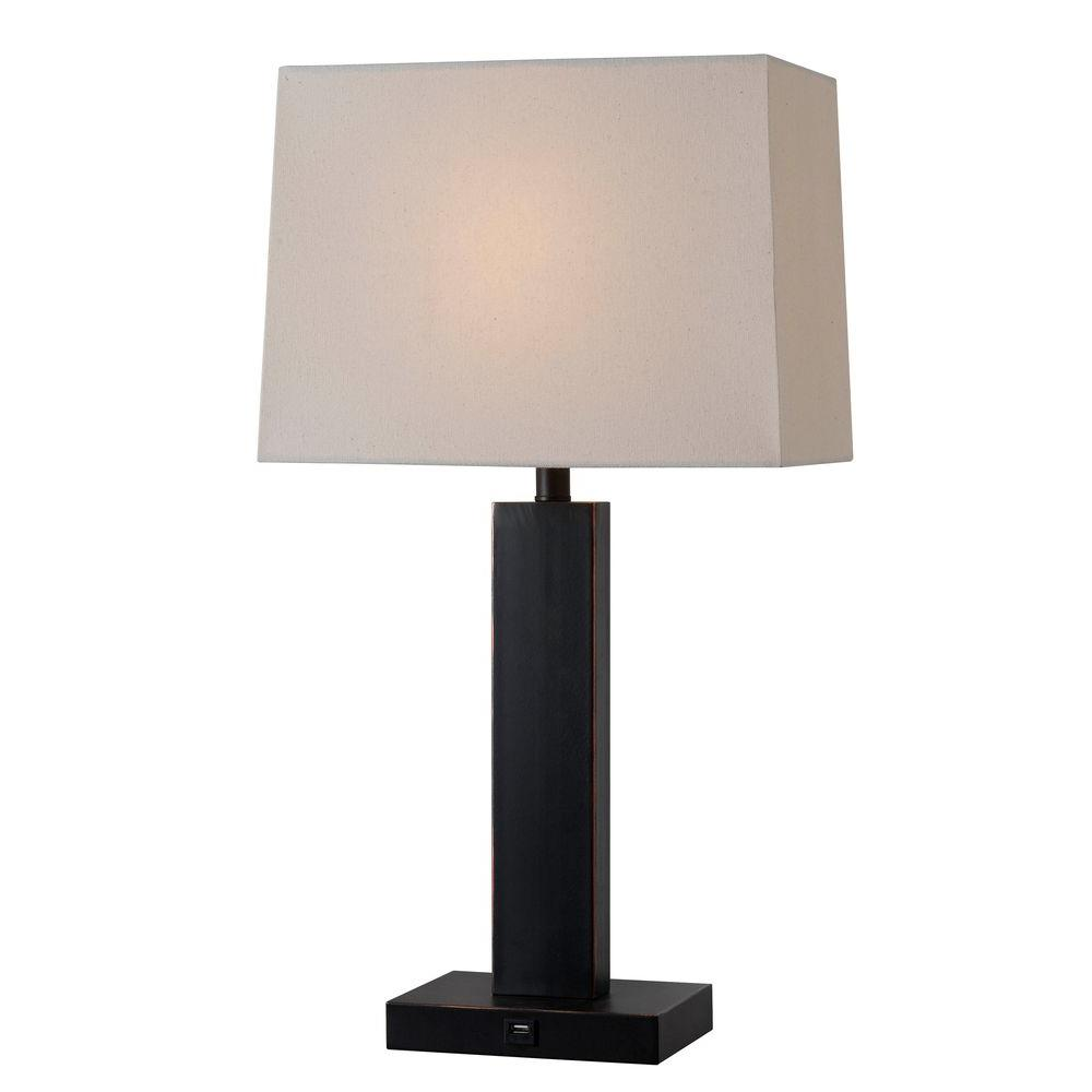 Bronze Table Lamp - Kenroy Home Innkeeper 28 In. Bronze Table Lamp-32758ORB - The Home