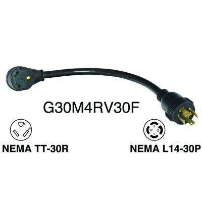 30 Amp Generator 4 Prong to RV30 Amp Adapter cord