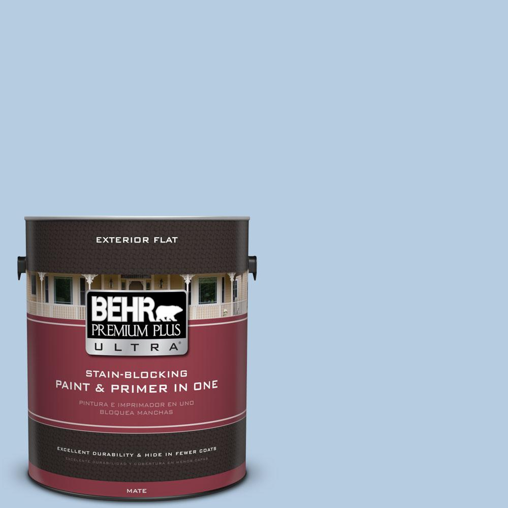BEHR Premium Plus Ultra 1-gal. #PPU14-14 Crystal Waters Flat Exterior Paint