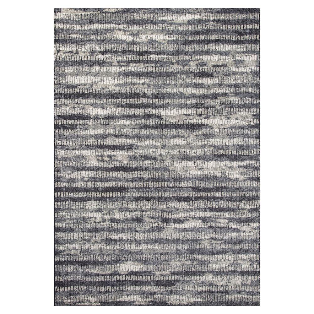 Kas Rugs Perfect Texture Black 7 ft. 10 in. x 11 ft. 2 in. Area Rug
