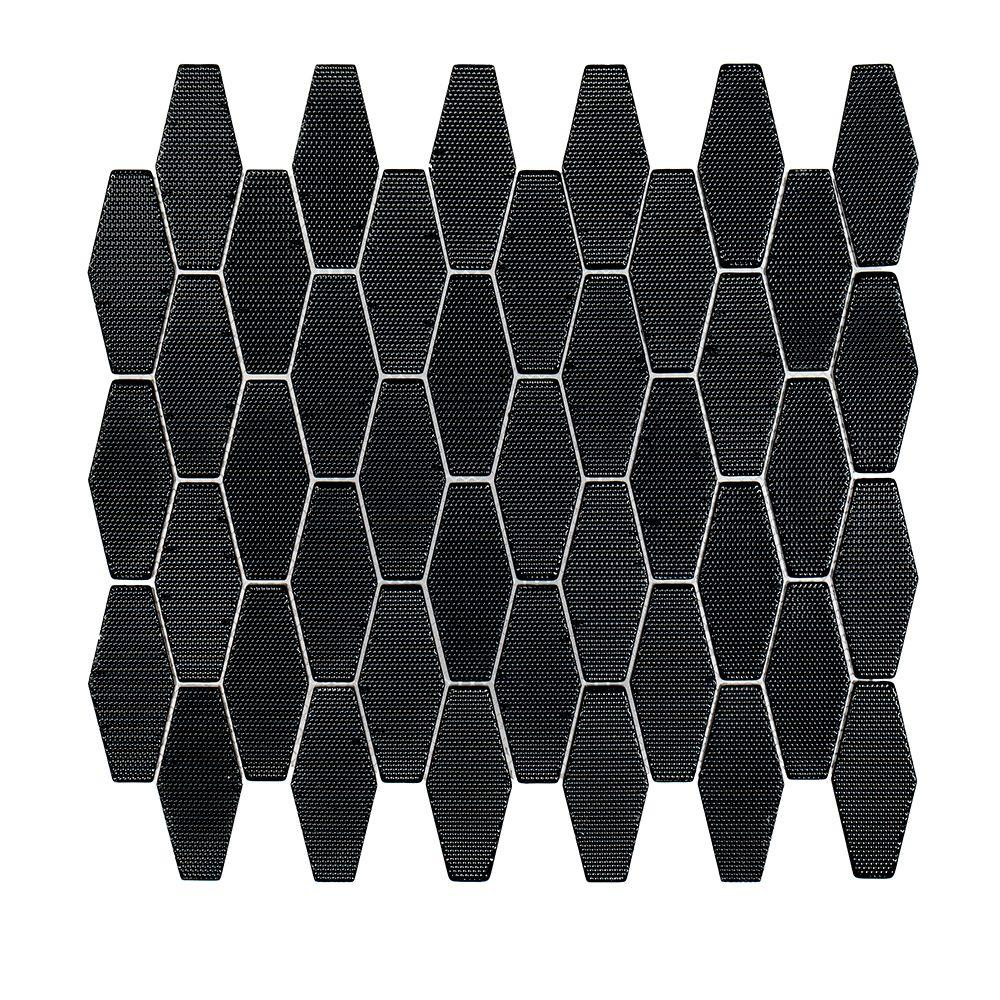 Carbon Hex 10-1/4 in. x 11-1/8 in. x 8 mm Glass
