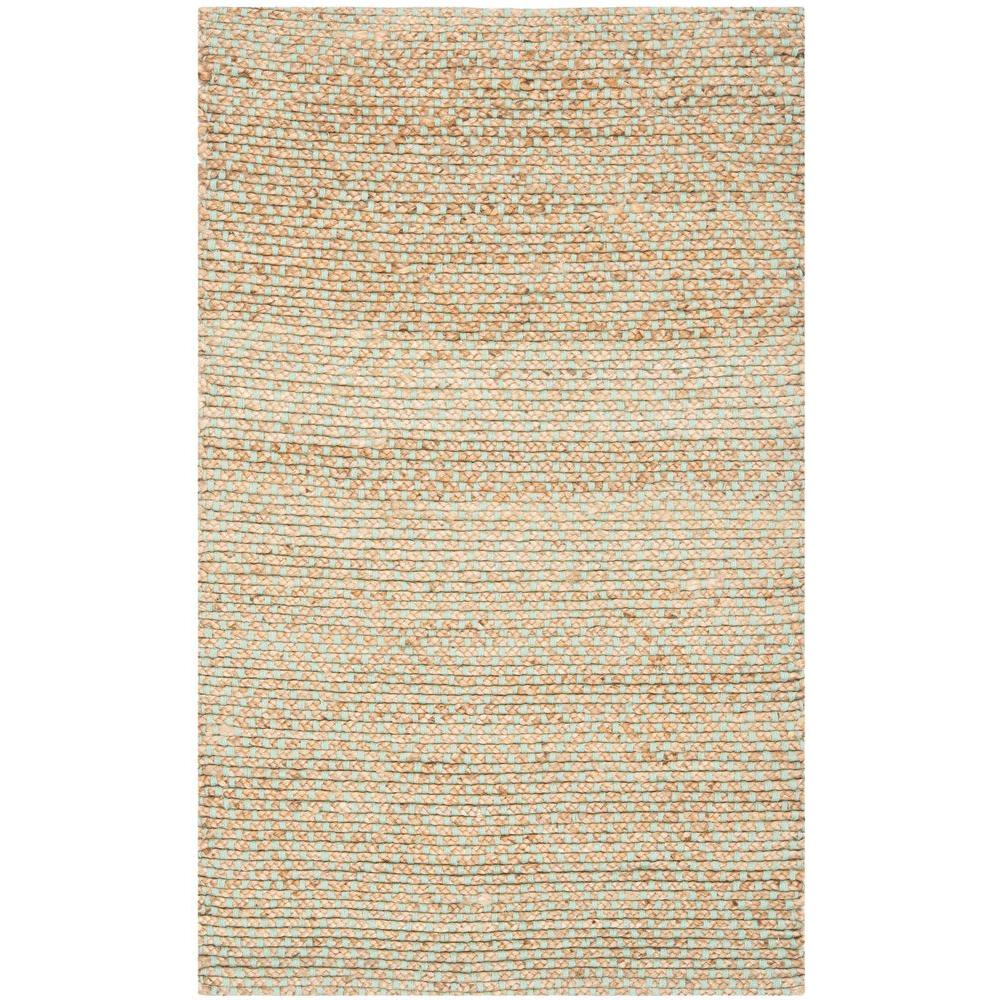 Natural Fiber Beige/Green 3 ft. x 5 ft. Area Rug