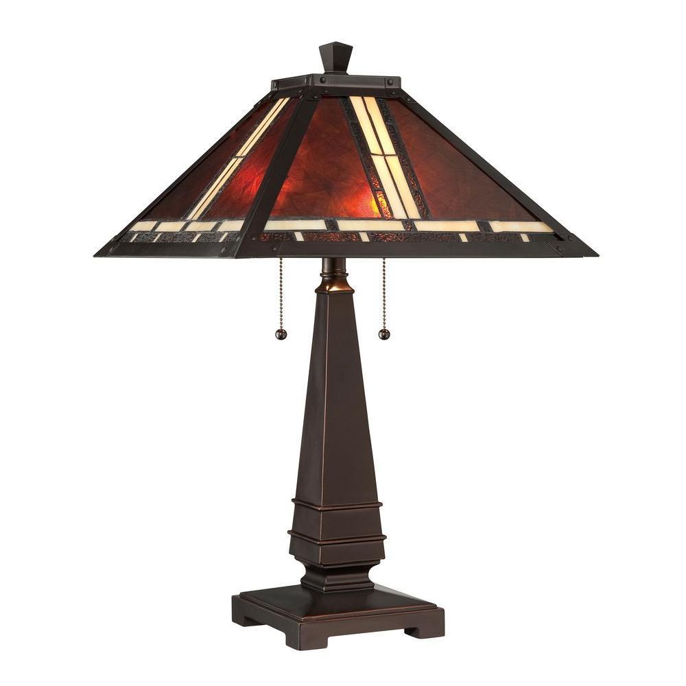 Designer 24.5 in. Dark Bronze CFL Table Lamp