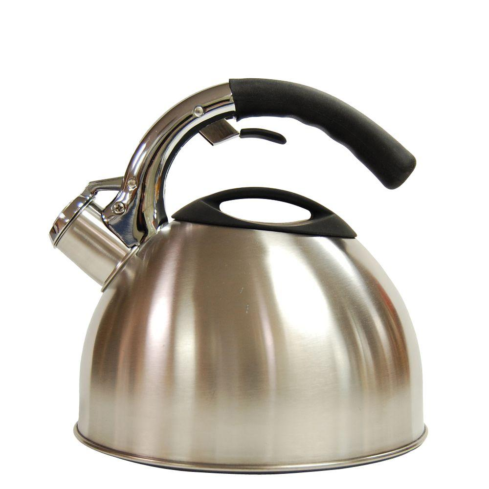 Creative Home Ellipse 11.2-Cup Stovetop Tea Kettle in Silver