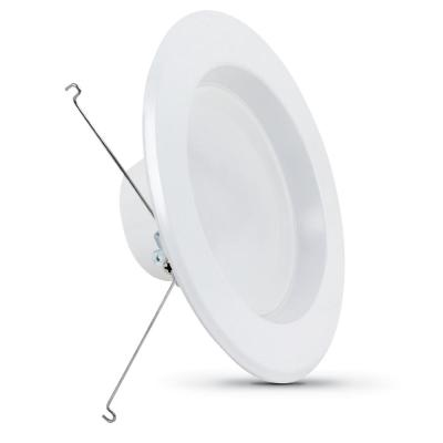 5 or 6 in. Soft White (2700K) Dimmable CEC Title 24 White Integrated LED Recessed Retrofit Trim Downlight