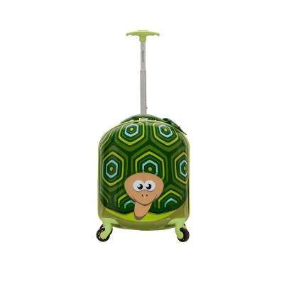Rockland 17 in. Jr. Kids' My First Polycarbonate Hardside Spinner Luggage, Turtle