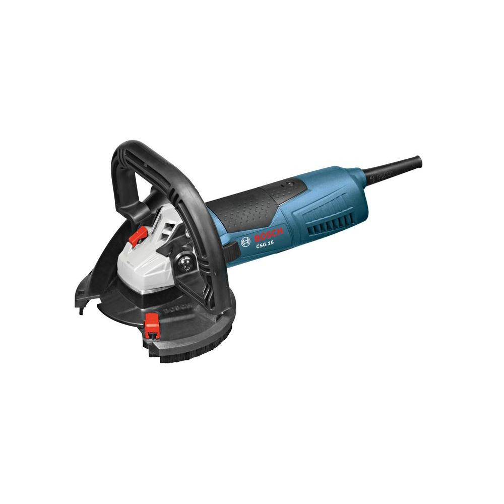 Bosch 12 5 Amp Corded 5 in  Concrete Surfacing Grinder with Dedicated Dust  Collection Shroud