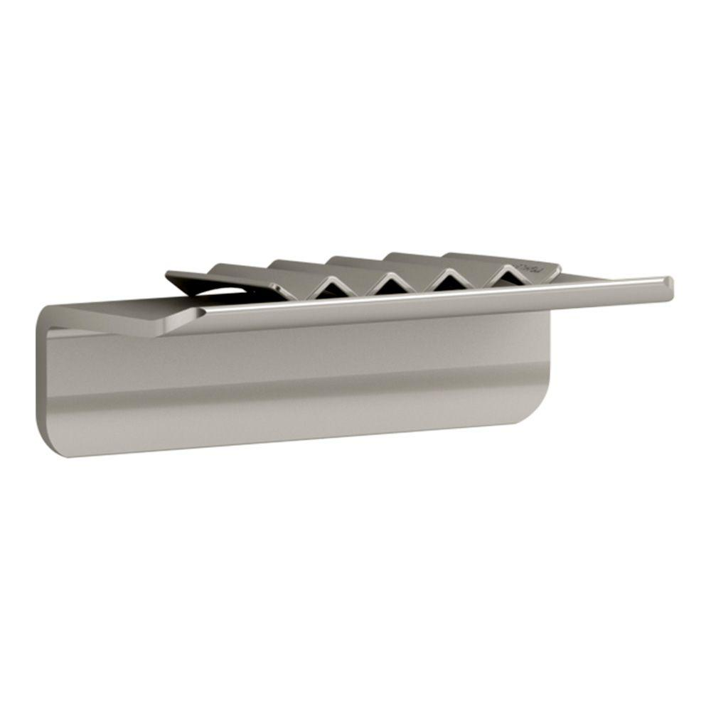 KOHLER Choreograph 4 in. W Floating Shower Shelf in Anodized Brushed Nickel