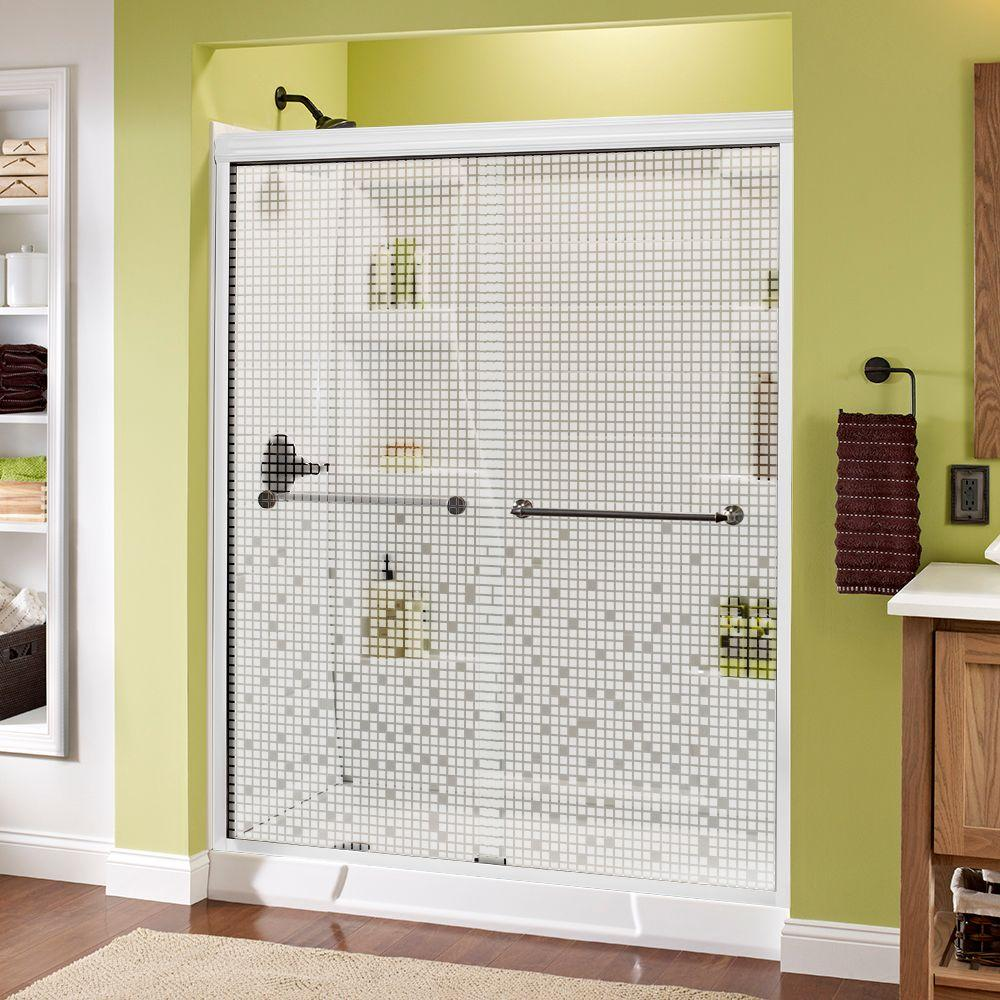 Mandara 60 in. x 70 in. Semi-Frameless Sliding Shower Door in