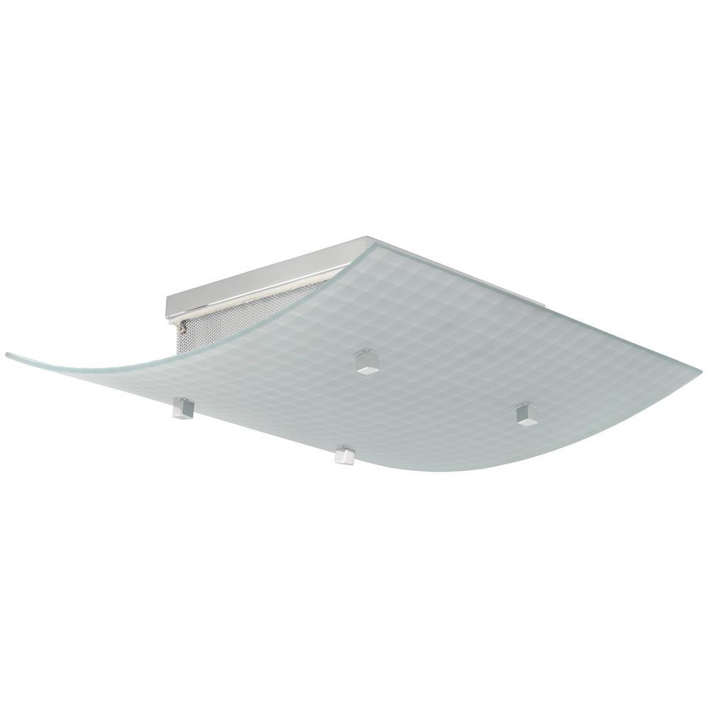Pillow 4-Light Chrome Flush Mount