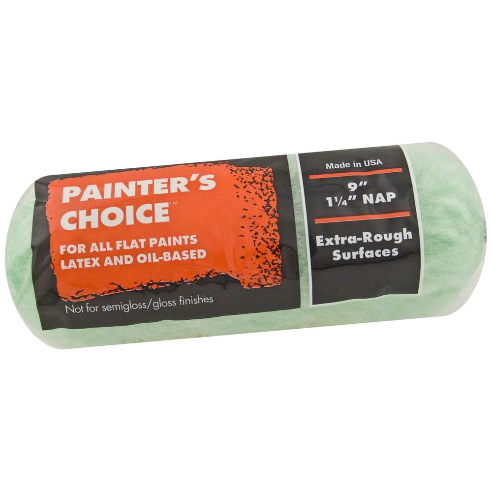 Wooster Painter's Choice 9 in. x 1-1/4 in. Fabric Medium Density Roller Cover